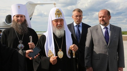 Патриарх Кирилл: «Пусть благословение Божие пребывает над Архангельской область и всеми жителями!»
