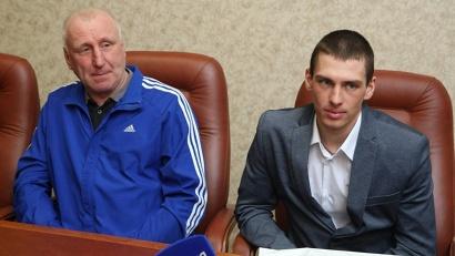Алексей Шемякин с личным тренером Игорем Мосеевым