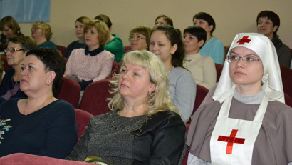 На конференцию приехали медсестры со всего региона
