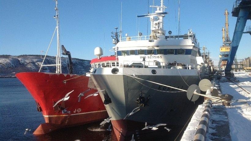 Рыболовный траулер «Койда-2» в Мурманском морском порту