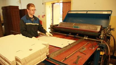 УПП выпускает продукцию из картона, в том числе коробки для пиццы, папки-скоросшиватели, пакеты и конверты