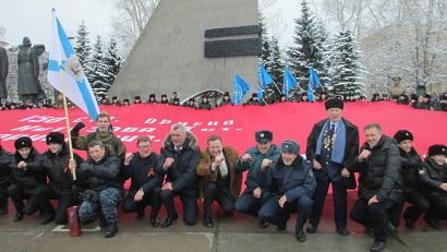 Копия знамени Победы – в память о героях Великой Отечественной войны