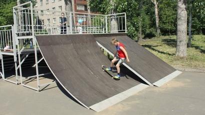 В округе Варавино-Фактория появились скейт-парк и детская площадка