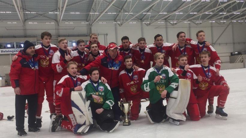 Сборная России – чемпион мира по хоккею с мячом среди юношей до 15 лет
